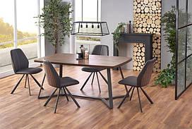 Стол CARUZZO орех/графит 180x90 (Halmar)