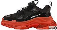 Женские кроссовки Balenciaga Triple S Clear Sole Black/Red
