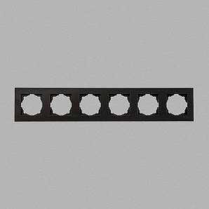 Eqona рамка 6-я черная глянцевая