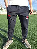 Мужские темно-синие спортивные штаны на манжете Reebok UFS
