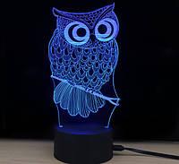 """Ночник 3D """"Сова"""", Ночники, Нічні лампи"""