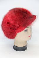 Женская модная зимняя кепка из меха ондатры