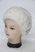Женская натуральная шапка их меха рекса