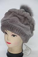 Женская модная натуральная шапка их меха рекса