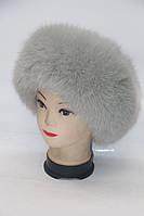 Зимова жіноча шапка з хутра песця, фото 1