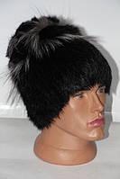 Стильна натуральна жіноча хутряна шапочка кубаночка