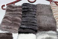 Повязка-резинка женская на голову теплая норковая