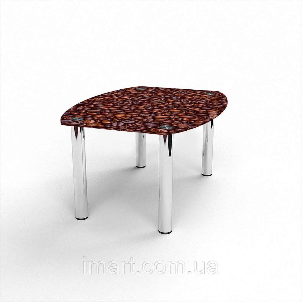 Журнальный стол Бочка Coffee aroma стеклянный