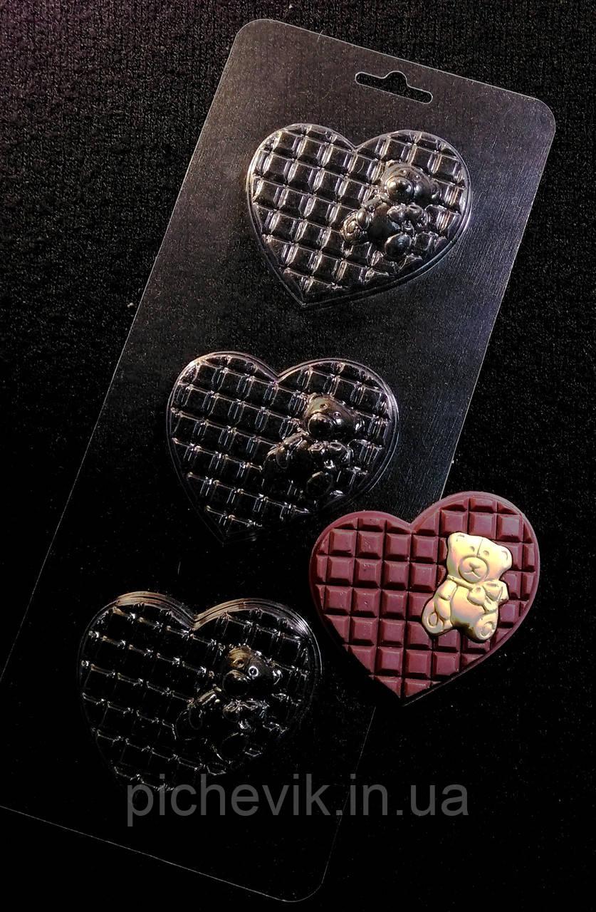 """форма для выпечки  """"Мишка на шоколадной подушке"""" 105*265мм"""