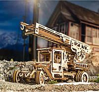 Механический 3D пазл UGEARS Грузовик-Пожарная лестница (70022)