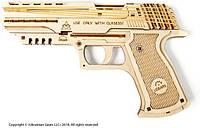 Механический 3D пазл UGEARS Пистолет Вольф-01 (70047)