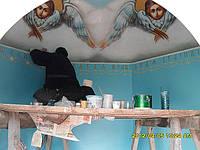 Художественное оформление потолка каплычки
