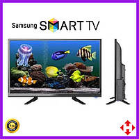 Телевизор Samsung 32 дюйма SMART TV, Full HD, Wi-Fi, с подставкой T2, Самсунг, Смарт ТВ на андроид
