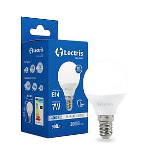 Лампа LED Lectris G45  7W 4000K 220V E14