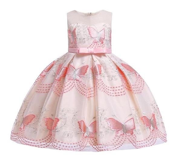 Святкове плаття принцеси з вишитими метеликамиFestive princess dresses with embroidered butterflies.2021