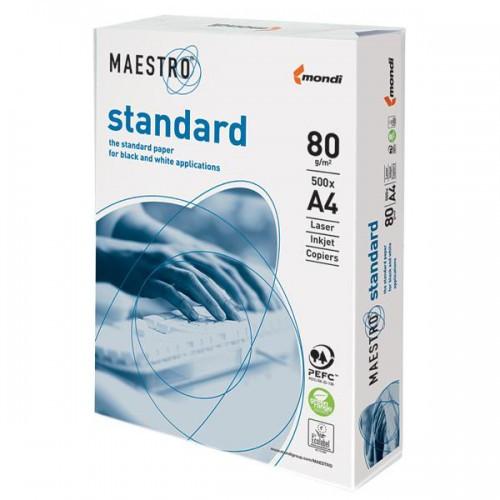 Бумага офисная А4 Maestro standart, 80 г/м2, 500 л.(маестро стандарт)