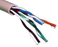 Витая пара UTP 4х2х0,5мм, APKTE  (CCA), для внутренних работ, 100м.