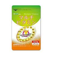 Мультивитамины для поддержания молодости и иммунитета у женщин Seedcoms Япония на 3 месяца применения