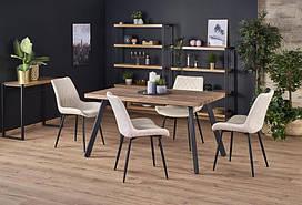 Стол BERLIN орех/черный 140(180)х85 (Halmar)