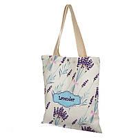 "Хлопковая сумка шоппер ""Лаванда"" 39х33 см. (Экосумки)"