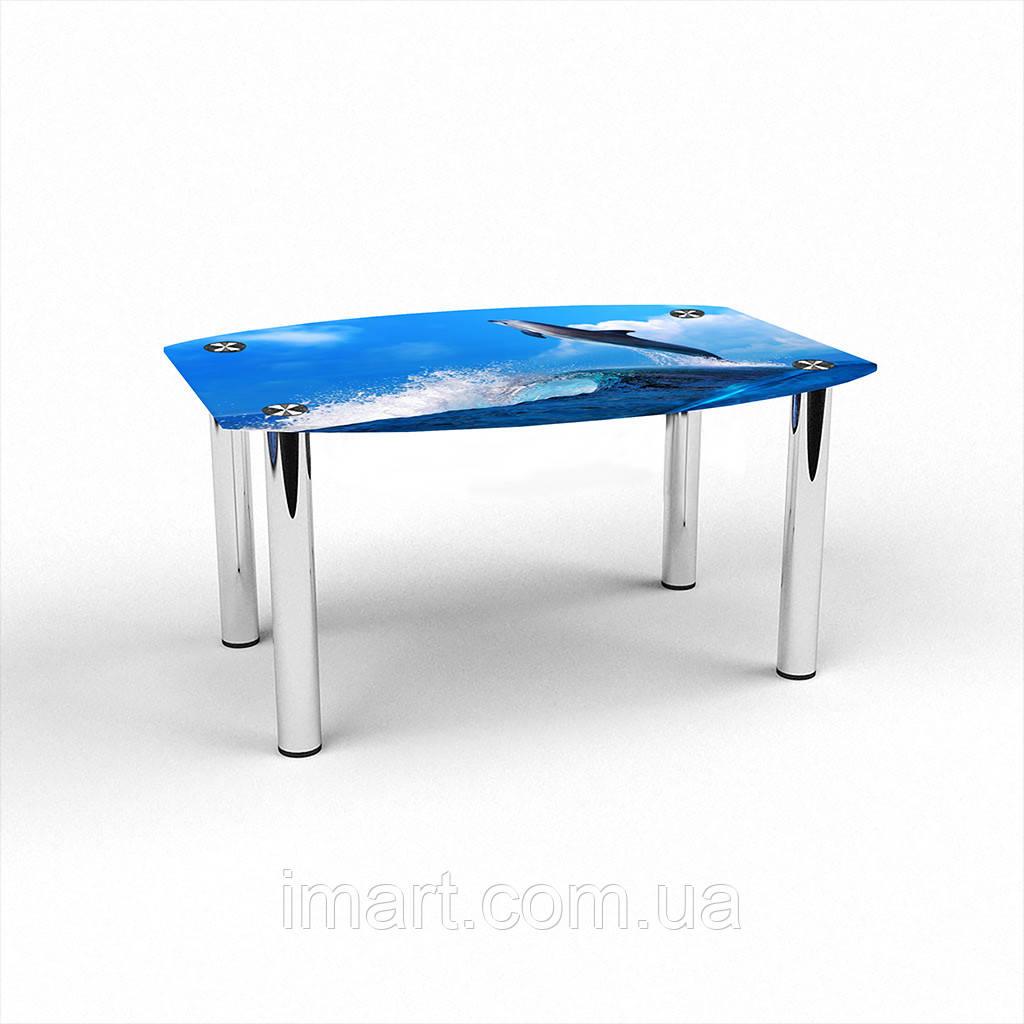 Журнальный стол Бочка Dolphin стеклянный