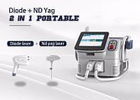 Диодный лазер + ND Yag лазер
