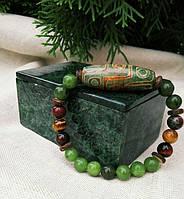 Браслет из натуральных камней турмалин мужской женский подарок