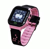 Смарт часы GM9 часы-телефон Baby Smart Watch для девочек с GPS-трекером Черно-Розовые