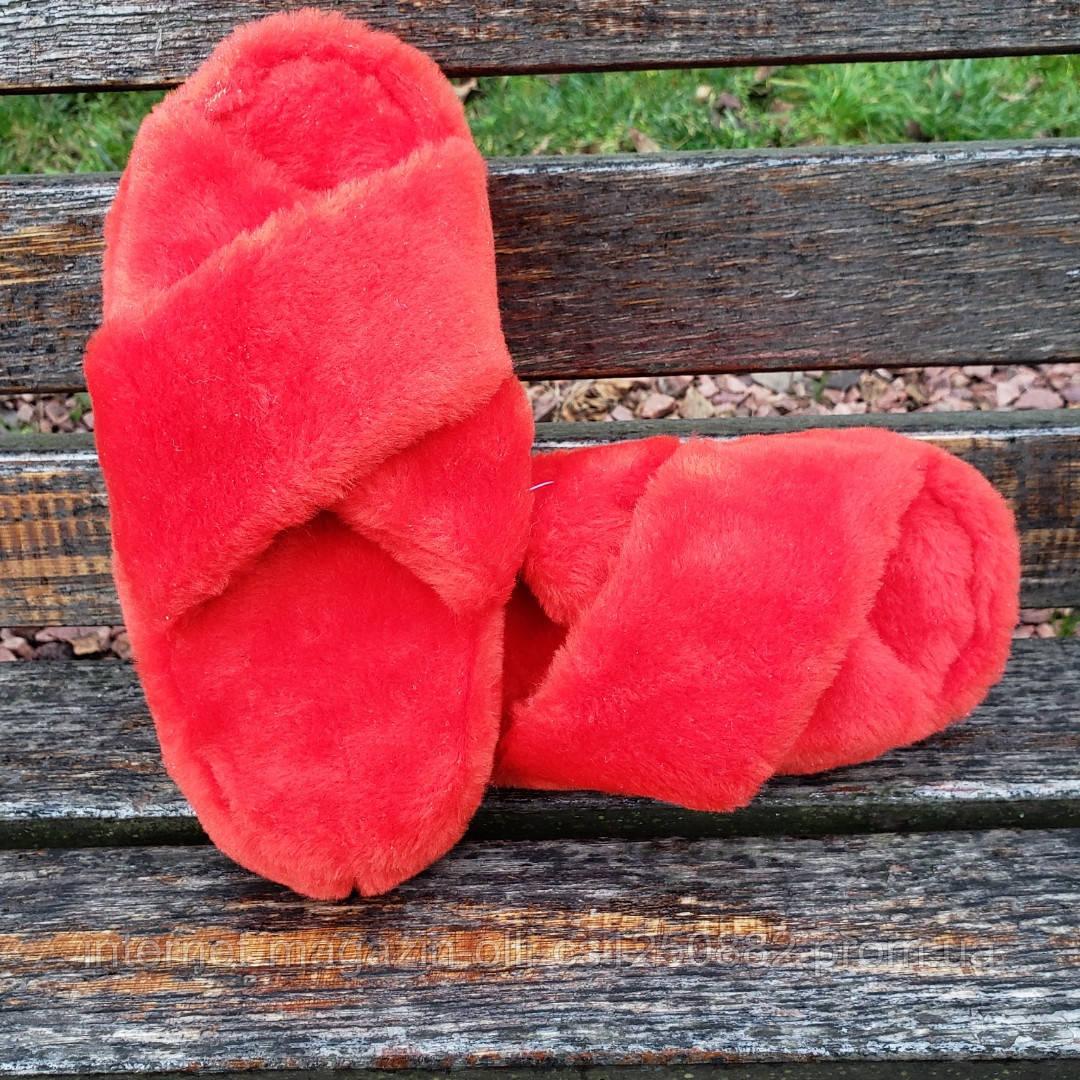 Тапочки красные навхрест 36-41р