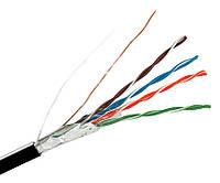 Витая пара FTP, 2х2х0,48мм, ДКЗ (CU), изоляция ПЭ, экранированный, для наружных работ, 305 м.