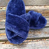 Тапочки синие навхрест 36-41р