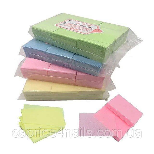 Безворсові серветки (кольорові), 700 шт. 4х6 див.