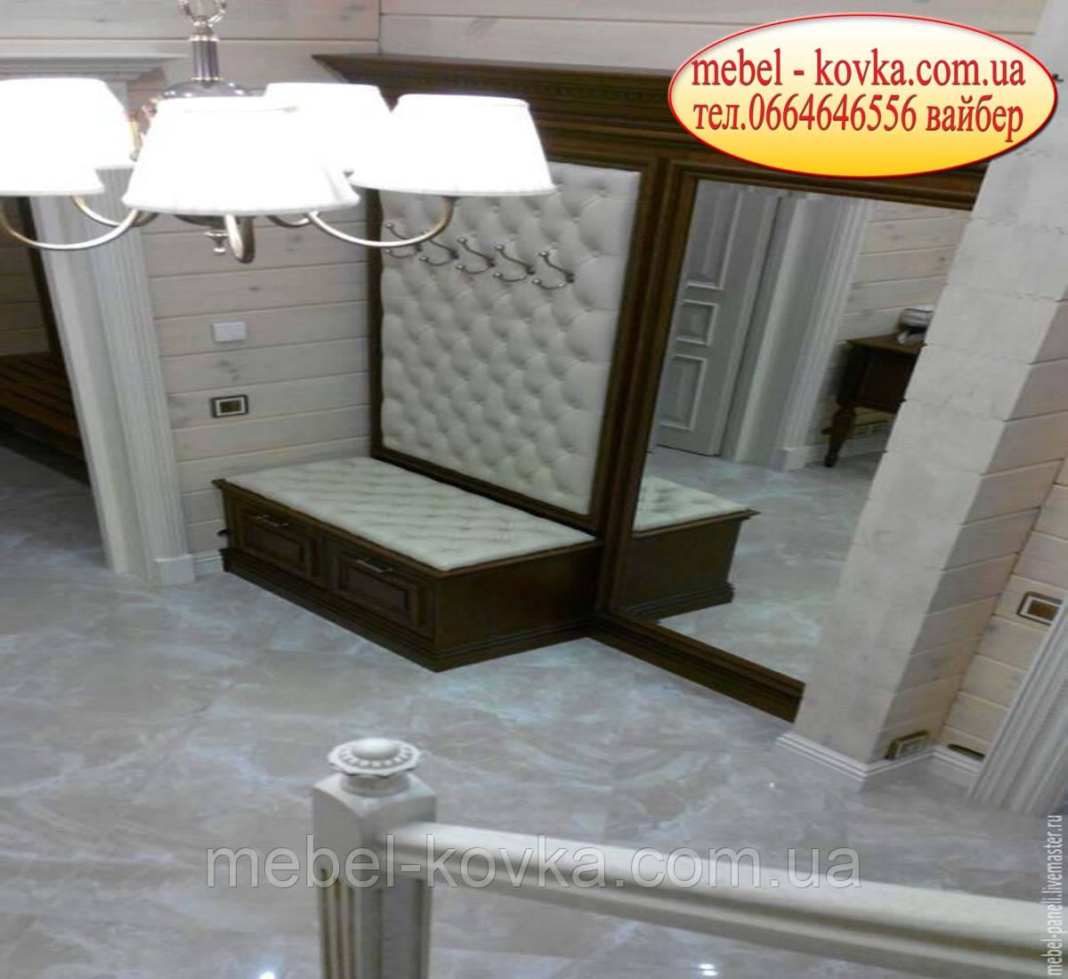 Мягкая панель в прихожую для корпусной мебели