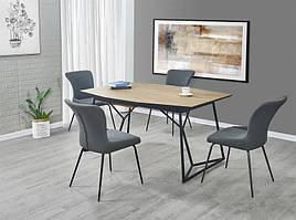 Стол раскладной COLOMBO золотой дуб/черный 160(210)x100 (Halmar)