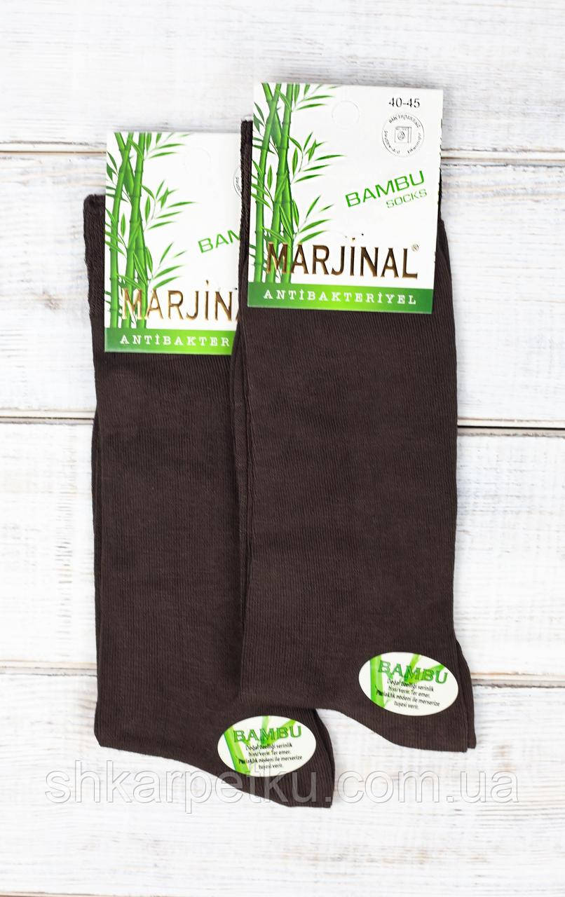 Мужские носки Marjinal бамбук, носки высокие, летние, классические антибактериальный продукт 41-44 6 пар в уп
