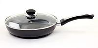 Сковорода антипригарная с крышкой Maestro 24 см (MR-1203-24)