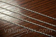 Цепочка серебряная женская - плетение Веревка