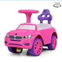 Детская каталка-толокар 7661-8 музыкальная,розово-фиолетового цвета.