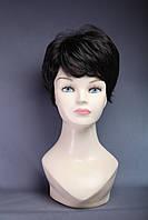 Парик женский короткий из искусственных волос с челкой, палитра цветов, цвет черный