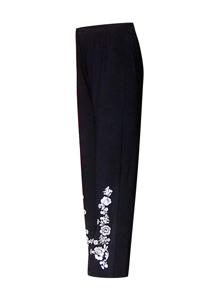 Трикотажные брюки с высокой посадкой Аленушка