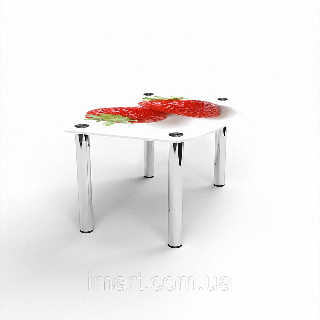 Журнальный стол Бочка Red berry стеклянный