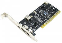 Контроллер PCI - 1394 FireWire 2+1port с кабелем (VIA chipset)