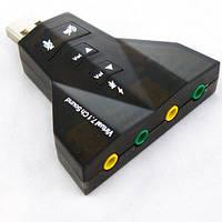 USB звуковая карта 3D Sound card 7.1 внешняя