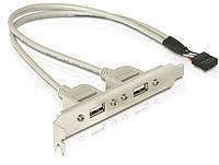 Планка расширения USB 2.0 , на  заднюю панель 2 port