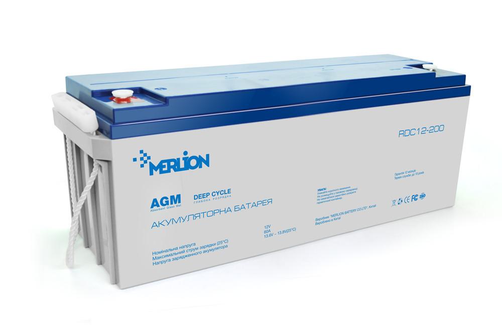 Аккумуляторная батарея MERLION AGM 12-200 12V 200Ah