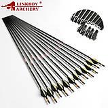 Стрелы для лука карбоновые Linkboy 500/400/300 spine 32 дюйма, фото 2