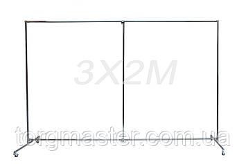 Пресс Волл (Press Wall) ПЕРЕДВИЖНОЙ с колесами 3х2м (конструкция)