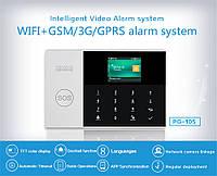 Бездротова gsm WiFi сигналізація rfid брелки 3 дротові зони центральна панель з харчуванням Marlboze PG105