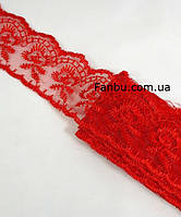 "Кружево красное""яблочко"", ширина 4 см(1упаковка-10ярдов), фото 1"