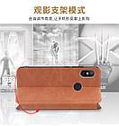 Чехол книжка Mofi Vintage для Xiaomi Redmi Note 8 Синий, фото 8